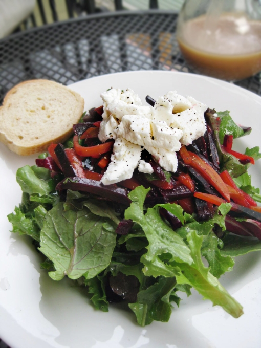 Roasted Beet Salad with Goat Cheese and Honey-Dijon ...