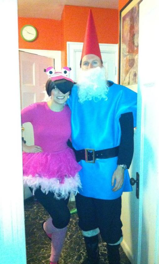 Lawn Ornament Costumes: Gnome and Pink Flamingo