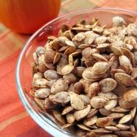 Roasted Acorn Squash Seeds