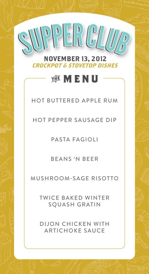 the delicious menu