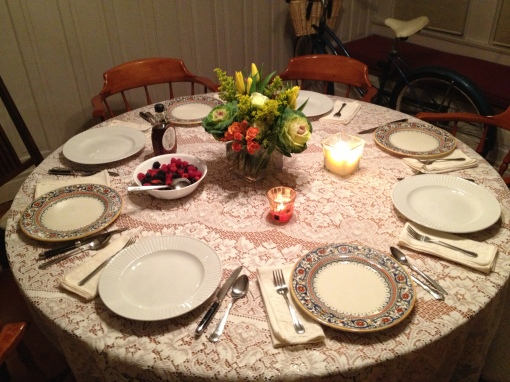 the lovely tablescape