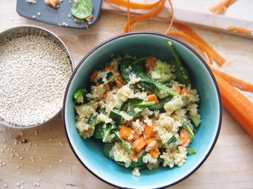Quinoa Salad with Baby Spinach