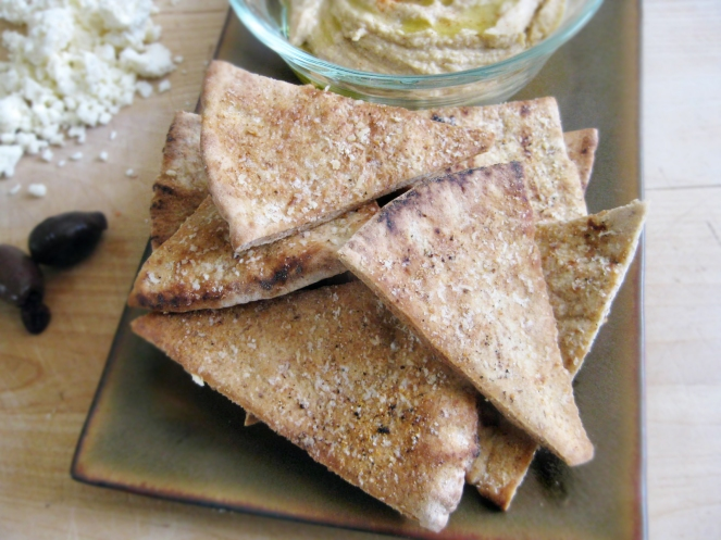 Garlic-Parmesan Pita Chips